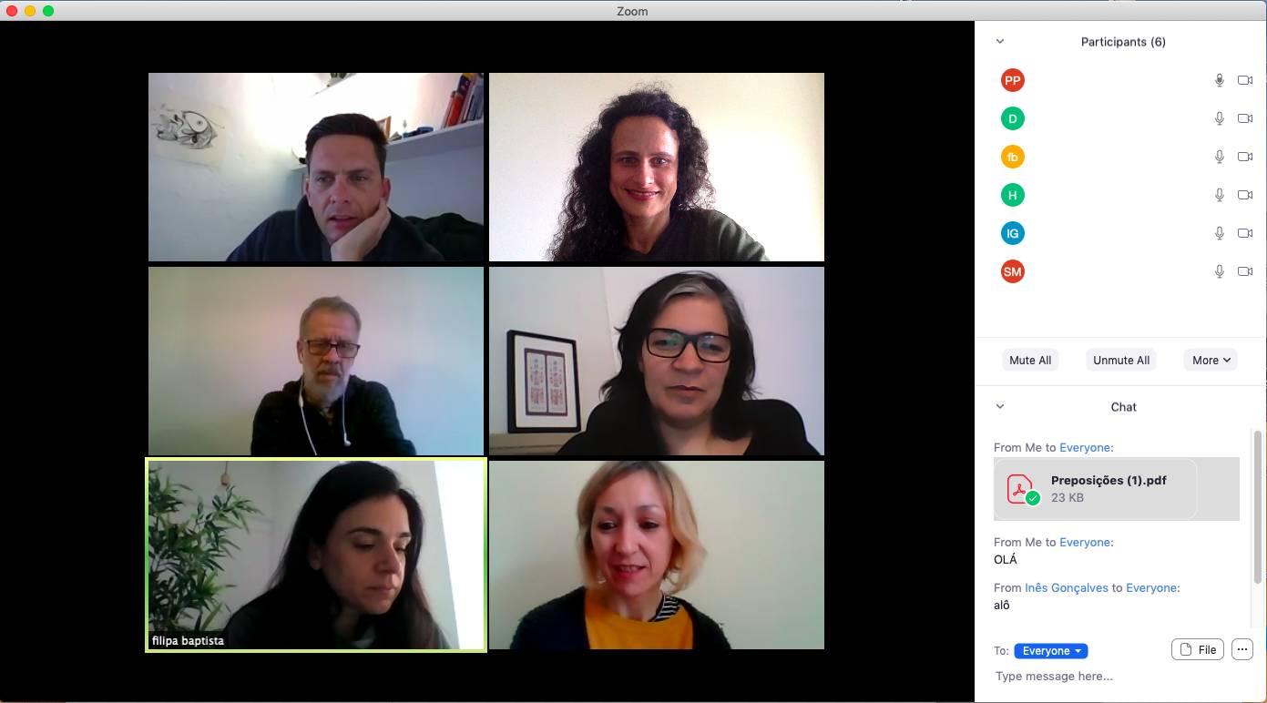 portuguese online class with 6 participants