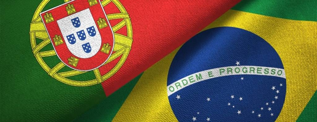 Portugal and Brazil flag